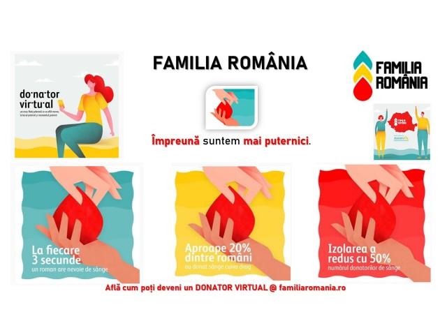 S-a lansat Familia România, prima platformă de donatori de sânge virtuali