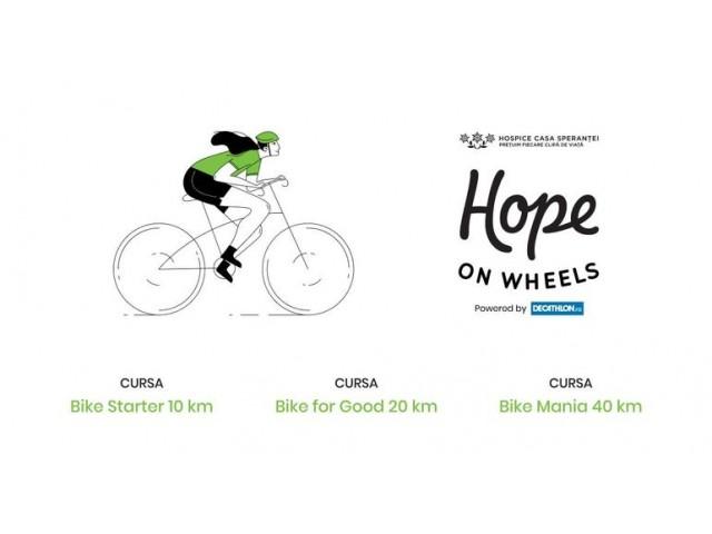 HOPE on WHEELS - eveniment de ciclism pentru copiii și adulții cu boli incurabile
